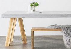 CONCRETE DINING TABLE - OBI Workshop table