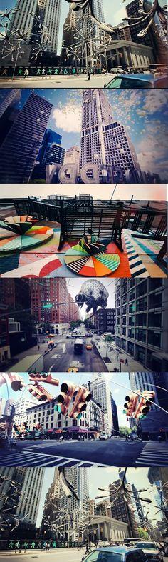 Une vidéo bluffante des rues de New york mais agrémenté de 3D vraiment créative au petit nom évocateur : New York Biotopes. C'est signé par Lena Steinkühler, c'est shooté au Canon 600D, niveau logiciel; After effects, Vicon Boujou et Cinema 4D . Bien classe !