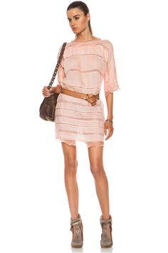 Isabel Marant Odrys Ramie Dress in Antique Pink