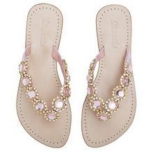 Sandals with a touch of bling