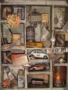"Old cars, wooden spool, birdcage... it's like an ""I Spy."""