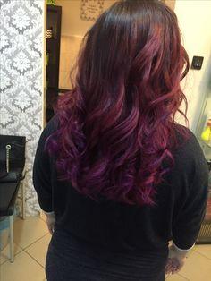 Purple,red balayage az új vörös :)