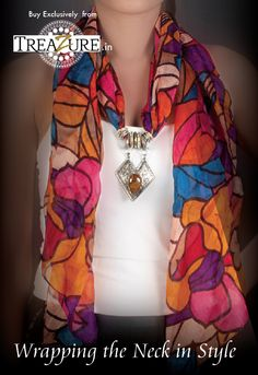 Wrapping the Neck in Style !!! Exclusive #Jeweled #Scarves brought to you by #Treazure.in