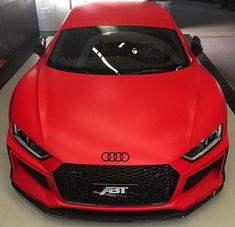 Matte Red Audi - Cars and motor Luxury Sports Cars, Top Luxury Cars, Cool Sports Cars, Sport Cars, Cool Cars, Audi S3 8l, Audi R8 V10, Audi Rs6, Audi Tt 2008