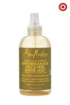 Give tired, worn-out curls a little TLC with SheaMoisture Yucca & Plantain Anti-Breakage Frizz-Free Shine Mist. Yucca, plantain and baobab oil help strengthen hair and boost shine. Plus, this mist is made with certified organic ingredients, is full of vitamins A, B, D, E and F, and helps with volume and split ends, too. In other words, a lot of really great stuff for your hair, all in one bottle.