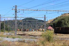 Vista desde la Maestranza San Rosendo hacia la Estación de Ferrocarril, Región del BioBío, Chile. Febrero 2014.