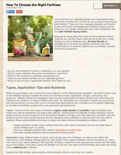 long-form content is a LOT to take in, when trying to make a purchase decision...   http://www.homedepot.com/c/how_to_choose_right_fertilizer_for_your_yard_HT_BG_OD