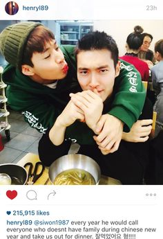 Choi Siwon and Henry ❤️❤️ #instagram #siwon #henry #korean