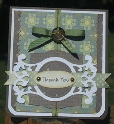 Scrapping Nook Gallery - Thank you card Aug DT - Powered by PhotoPost