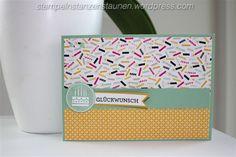 Birthday Card handmade with Stampin' Up!, SU, Designer Series Paper It's My Party, DSP meine Party, Minzmakrone, Mint Macaron, Geburtstagskracher, Berlin, BastelBazzzille, stempeln, stanzen, staunen