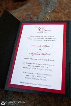 Red, White, And Black Wedding Invitation The Perfect Wedding