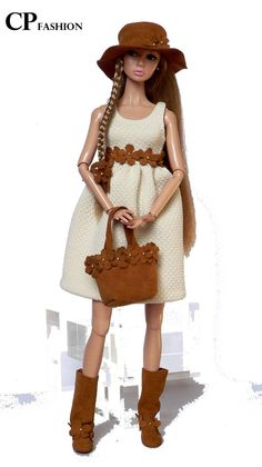 CP ITALIAN STYLE handmade outfit for FASHION ROYALTY POPPY PARKER,MOMOKO..
