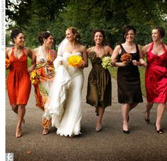 Brown Fall Bridal Dresses Wedding Colour Fall Colors