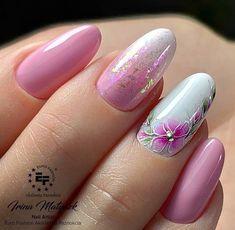 Girls Nail Designs, Elegant Nail Designs, Nail Art Designs Videos, Fingernail Designs, Elegant Nails, Nail Polish Designs, Stylish Nails, Pink Manicure, Pink Nail Art