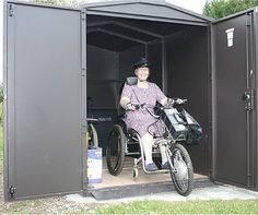 "Asgard Motorcycle storage - Good for Mobility Scooters as well! Just look at this previous ""Shed of the Month"" picture winner! Send your photos in an you could win High street vouchers. - http://ift.tt/1HQJd81"
