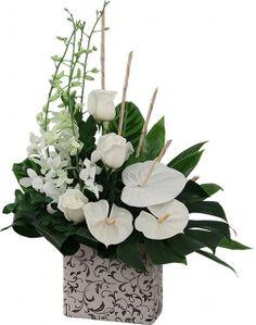 Fleurs mariage: Composition Eclat