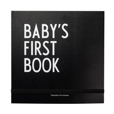 Design Letters Baby-Tagebuch mit Meilensteinkarten, Schwarz