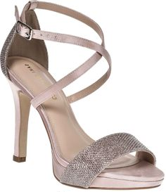 Toni - High heeled platform sandal shoes with glitter design and ankle straps Peep Toe Platform, Ankle Straps, Shoe Collection, Leather Shoes, Fashion Shoes, Shoes Sandals, High Heels, Footwear, Glitter