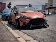 Ford Fiesta Modified, Modified Cars, Ford Fiesta St, Wide Body Kits, Motor Car, Motor Vehicle, Fender Flares, Car Tuning, Ford Focus