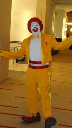 Ronald helps greet guests at our annual gala, Red Shoe Shindig. need a woman version of this suit or dress Ronald Mcdonald House, Character Costumes, Red Shoes, Kansas City, Suit, Characters, Woman, Dress, Role Play Outfits