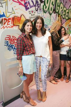 Rebecca and Leandra Medine of The Man Repeller from the Denim Demolition Party