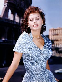 Sophia Loren..still a beautiful woman today..inside and out!! A lot of today's young Hollywood could learn a lesson in Class from Ms. Loren:)
