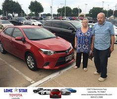 Congratulations Jeanette on your #Toyota #Corolla from David Shimanek at Lone Star Toyota of Lewisville!  http://deliverymaxx.com/DealerReviews.aspx?DealerCode=E208  #LoneStarToyotaofLewisville
