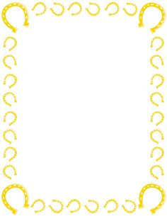 Horseshoe Stencil Printable  rodeo printable coloring pages