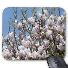 Lovely Magnolia Blossoms Mousepad