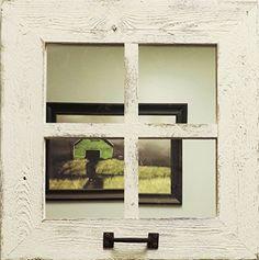 "18"" Square (4 pane) Window MIRROR"
