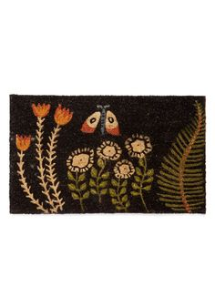 Flutter Beauty Doormat. Add vintage-inspired charm to your entryway with this delightful doormat! #multi #modcloth