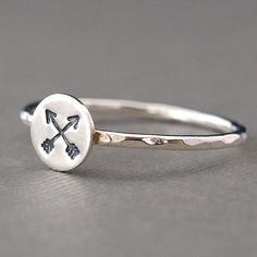 Arrow Jewelry Arrow Ring Sterling Silver by CatherineMarissa, $25.00