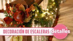Decoración+Navideña+para+escaleras Christmas Bulbs, Table Decorations, Holiday Decor, Ideas Vintage, Home Decor, House, Christmas Porch, Christmas Stairs Decorations, Bold Colors