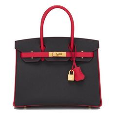 Hermes HSS SO Bi-Color Black and Rouge Tomate Birkin with brushed gold hardware in new or never worn condition with plastic on hardware. Shop authentic Hermes at Madison Avenue Couture. Hermes Handbags, Black Handbags, Purses And Handbags, Fashion Handbags, Suede Handbags, Large Handbags, Tote Handbags, Hermes Bags, Hermes Birkin