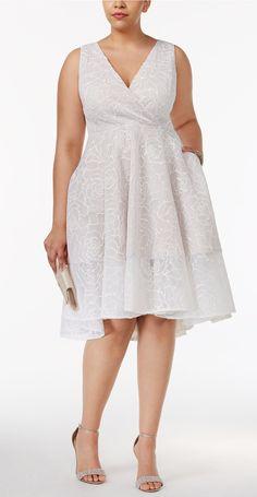 Plus Size Floral Mesh Surplice Dress