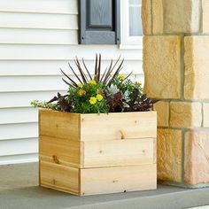 If space is an issue the answer is to use garden boxes. In this article we will show you how all about making raised garden boxes the easy way. We all want to make our gardens look beautiful and more appealing. Diy Wood Planters, Cedar Planter Box, Wood Planter Box, Garden Planters, Moss Garden, Birdcage Planter, Outdoor Planters, Garden Trellis, Garden Bed
