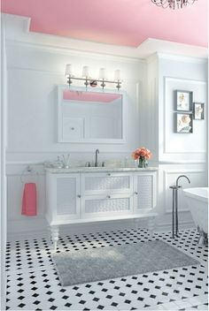 """NOW.... should I do a pink ceiling with """"comfort gray"""" or keep the entire room """"comfort gray""""?  Ahhh, decisions."""