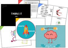 MHM : les paperboards des modules – Tablettes & Pirouettes Cycle 3, Document, Elementary Math, Writing, School, Blog, Coins, Mental Calculation, Dyslexia
