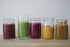 Recipes for five days of breakfast smoothies: Chocolate Chilli, Apple Cinnamon, Beet It, Pumpkin Pie, Morning Glory #vegan #glutenfree #vegetarian