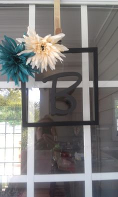 recycled a broken picture frame!