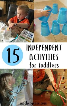 15 Independent Activities for Toddlers