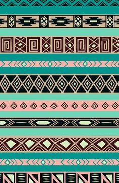 Aztec Tribal Pattern Art Print