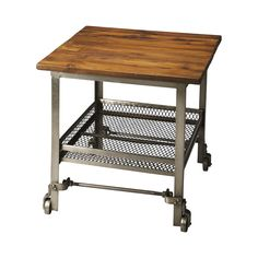 Bring a Spartan and rustic edge to your room décor. The Sordahl Side Table brings a stoic library look with just enough fun details to round out an industrial-themed space design. We fell for the decor...  Find the Sordahl Side Table, as seen in the Industrial Chic Collection at http://dotandbo.com/collections/industrial-chic?utm_source=pinterest&utm_medium=organic&db_sku=106948