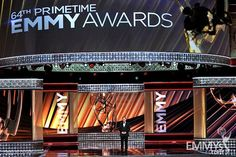 The stage is set for the 64th annual Primetime Emmy Awards at the Nokia Theatre in Downtown Los Angeles.