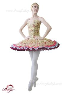 """Details: costume, headpiece. It is a professional stage costume, which is made on the basis of the professional basic tutu #T0002 (see section """"Basic tutus""""). The bodice is made of thick fabric, on el"""