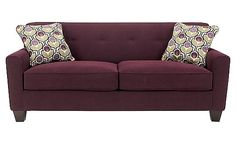 My living room set- Ashley-Danielle - Eggplant Sofa New Living Room, Living Room Sofa, Living Room Furniture, Ashley Furniture Sofas, New Furniture, Purple Couch, Buy Sofa, Sofa Colors, Upholstered Sofa