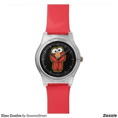 Shop Elmo Zombie Watch created by SesameStreet. Presents For Kids, Watch Faces, Elmo, Hand Coloring, Cool Gifts, Zombie Shop, Fashion Accessories, Quartz, Watches