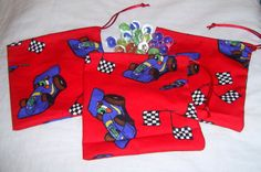 Red Car Gift Bag With Marbles - The Supermums Craft Fair