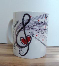Caneca + Musica por Coletivo Design Customized For You