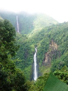 Guadeloupe has beautiful waterfalls, some are easy access, others you can hike for an hour or two through the tropical forest to get to. Here are 2 of the 3 Chutes du Carbet, Capesterre Belle Eau, Guadeloupe Guadalupe Island, Caribbean Culture, Destinations, West Indies, Adventure Is Out There, Places To See, Travel Photos, Landscape Photography, Beautiful Places